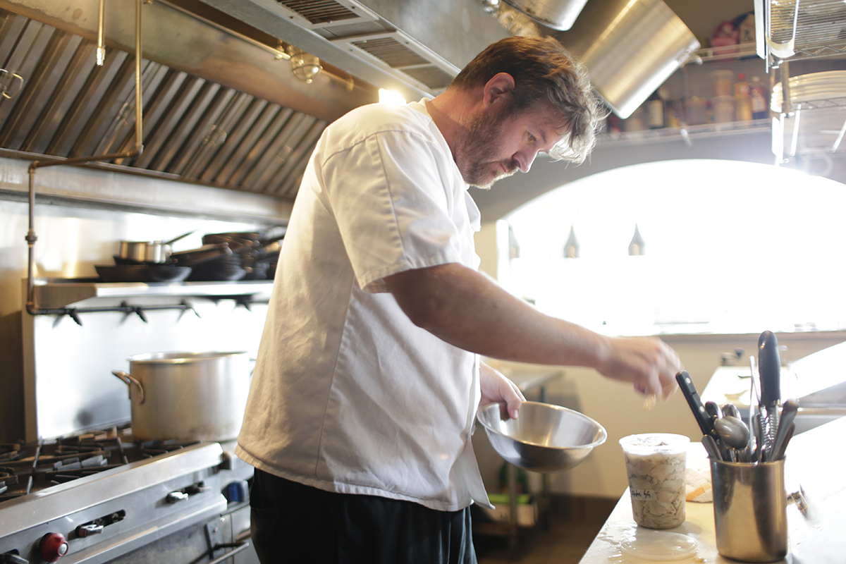 Chef Jason Goodenough in his New Orleans restaurant