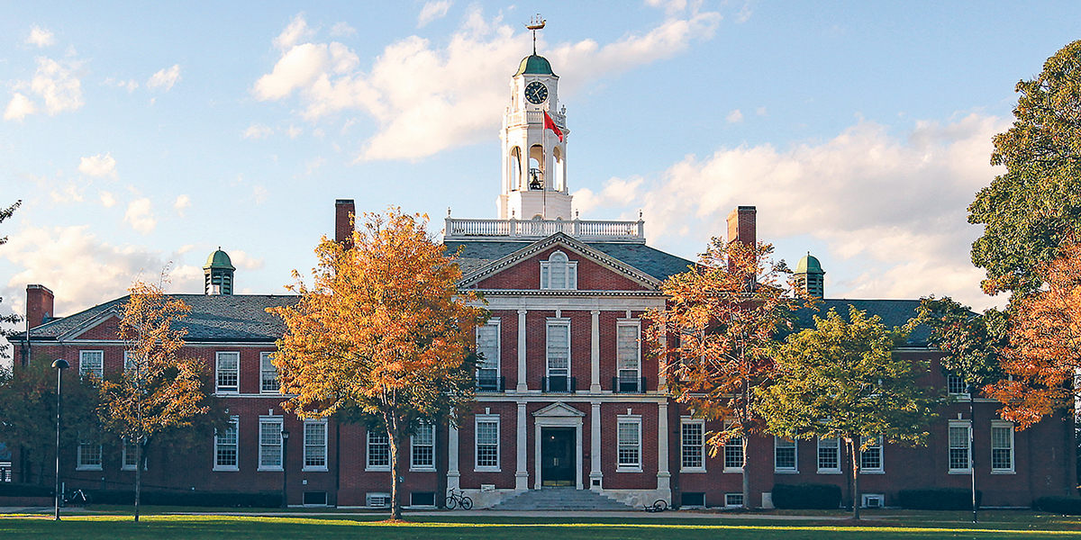 The Academy Building on campus at Phillips Exeter Academy