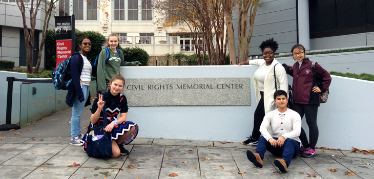 Exonians visit the Equal Justice Initiative in Alabama