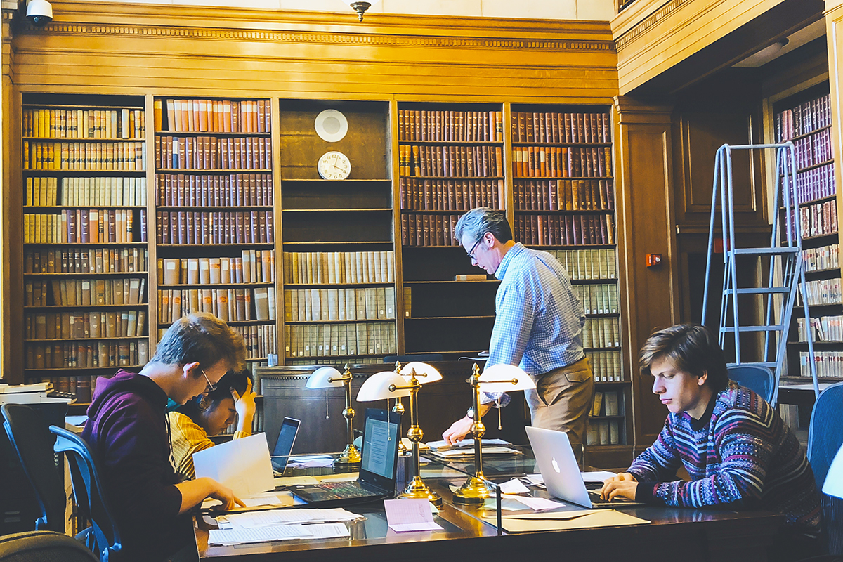 At the National Archives, students and History Instructor Kent McConnell were able to read diaries, letters and other primary sources from the Civil War era.