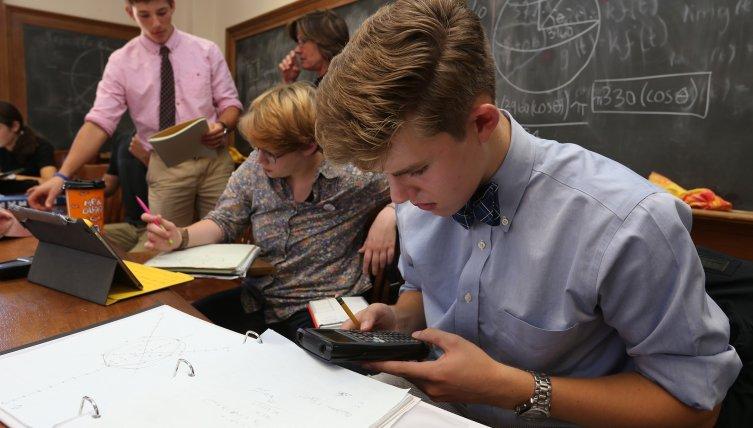 Math classroom at PEA