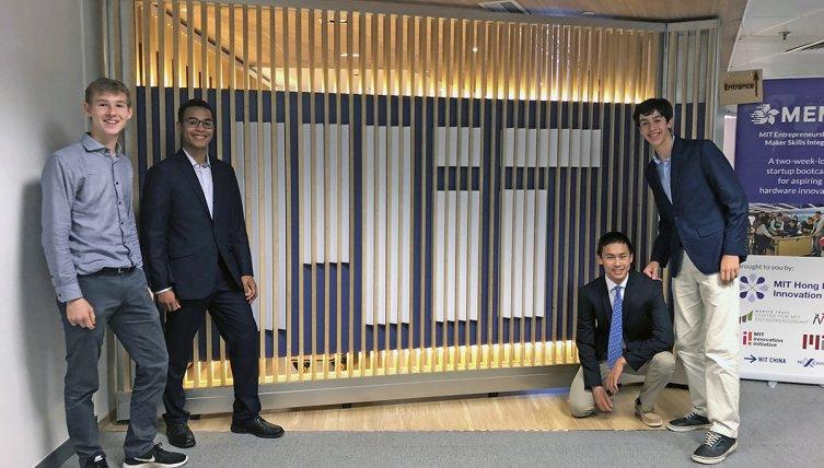 Exeter students at the MIT Hong Kong Innovation Node.