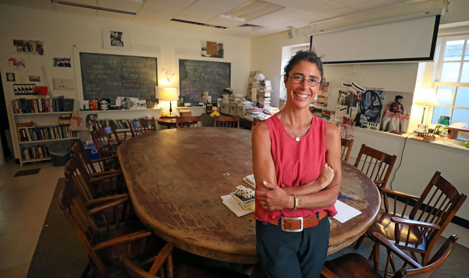 Mercy Carbonell in her classroom at Phillips Exeter Academy.