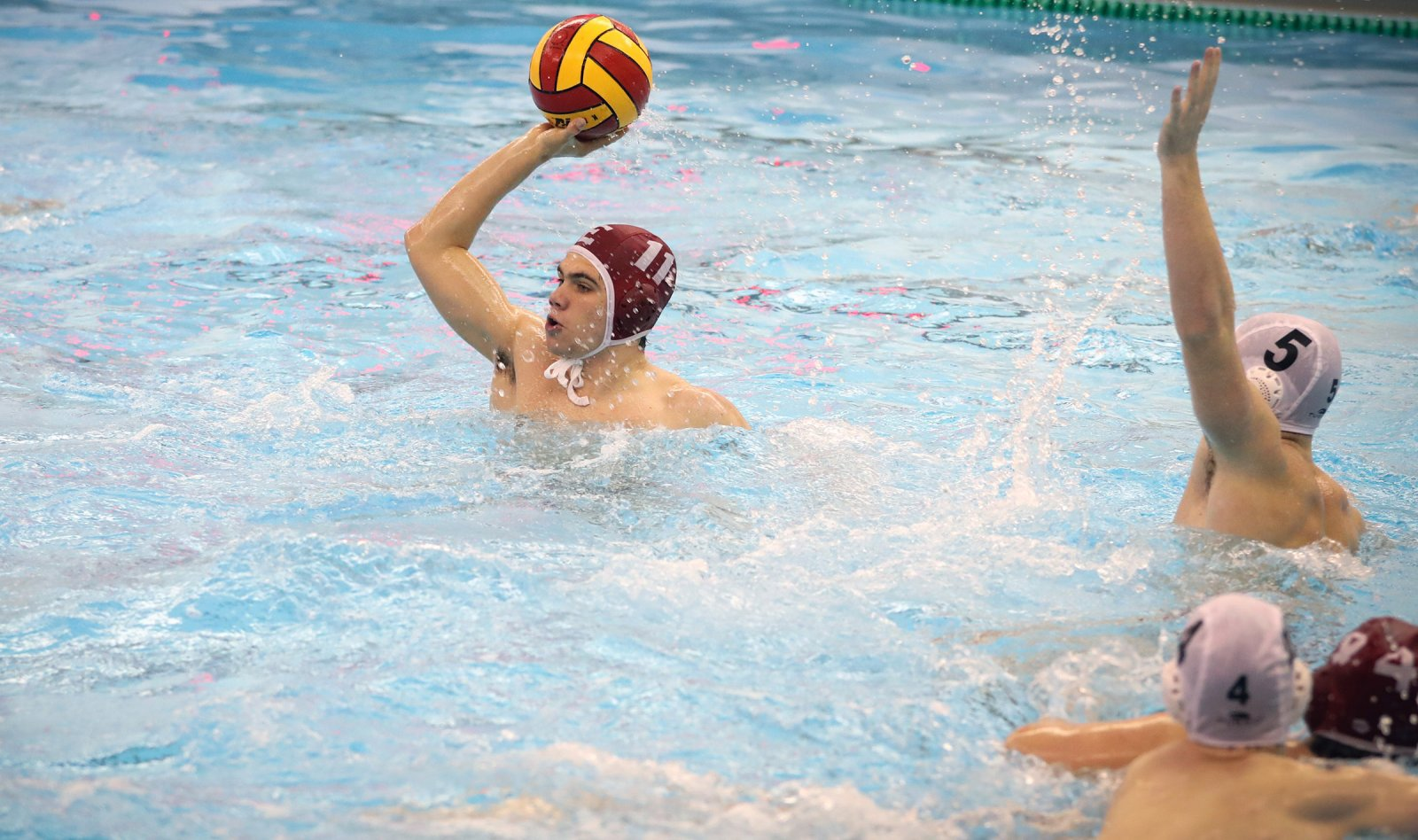 Charlie Venci playing water polo