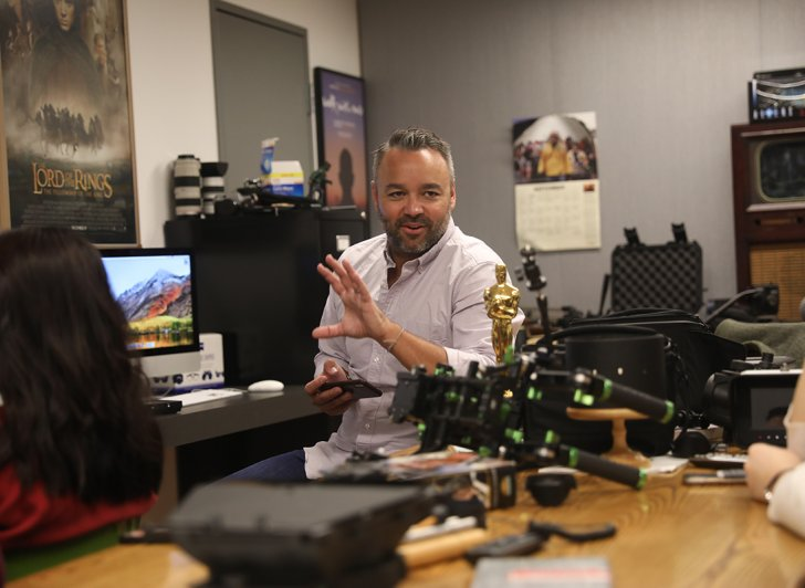 Film producer Evan Hayes chats with Exeter students