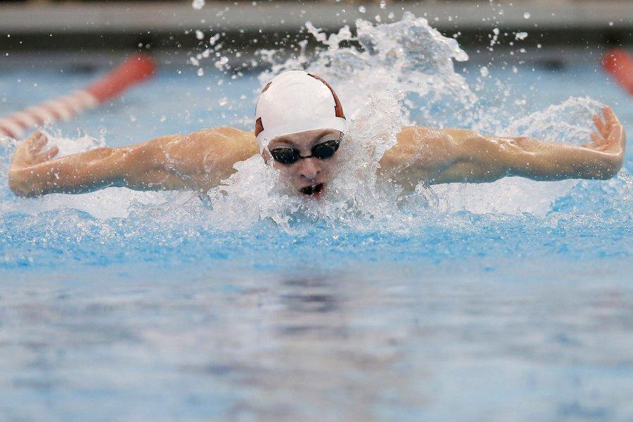 Andrew Benson swimming.