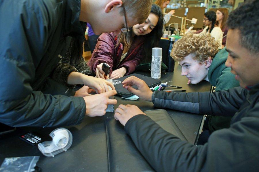 Students at Maker Fest