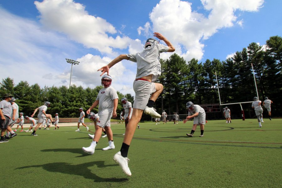 Varsity football hits the field at Phelps Stadium to open preseason.