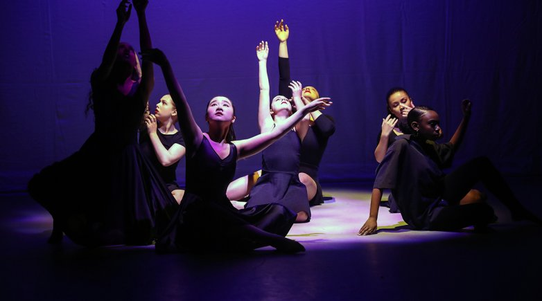 Dancers perform Technology: A Winter Dance Concert.