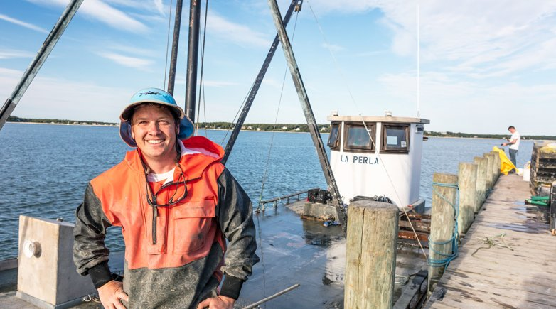 Peter Stein aboard La Perla.