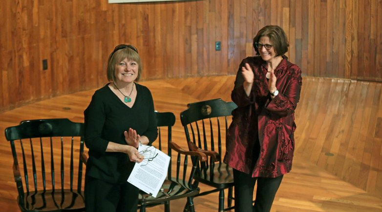 Linda Luca receives the Founder's Day Award.