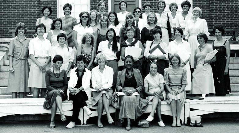 Women faculty of Phillips Exeter Academy in 1983.