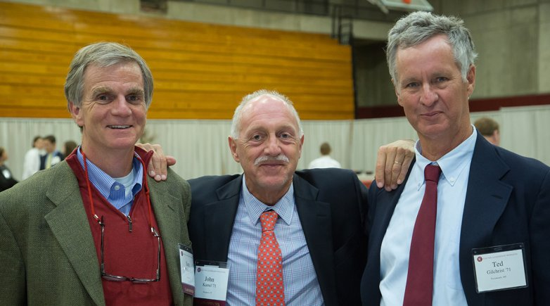 Exeter alum John Karrel with friends at a reunion