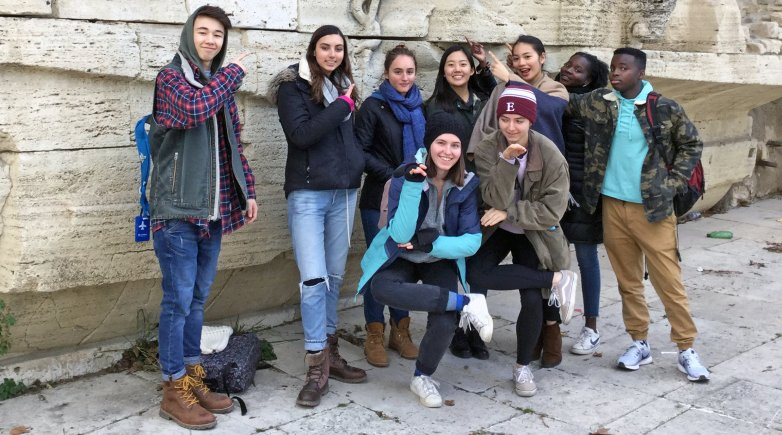 Exonians in Rome.