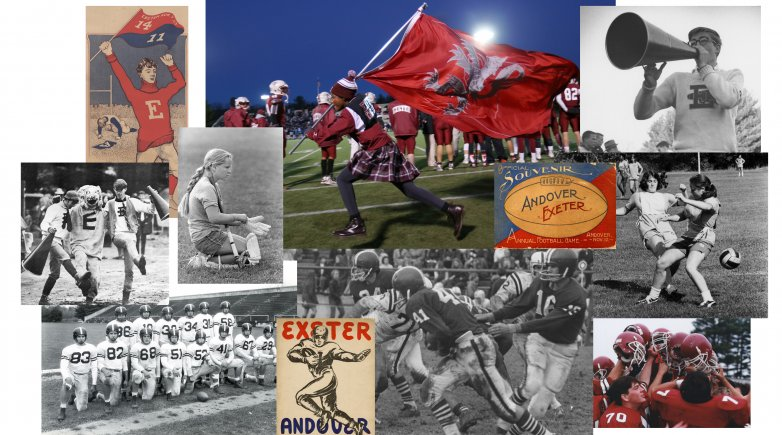 collage of Exeter athletics images current and historic