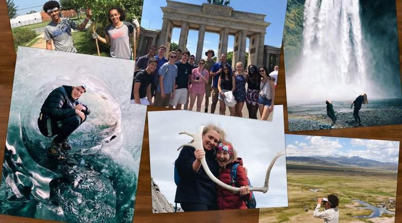 Exonians are currently exploring Iceland, Italy, Yellowstone, New Orleans and Germany.
