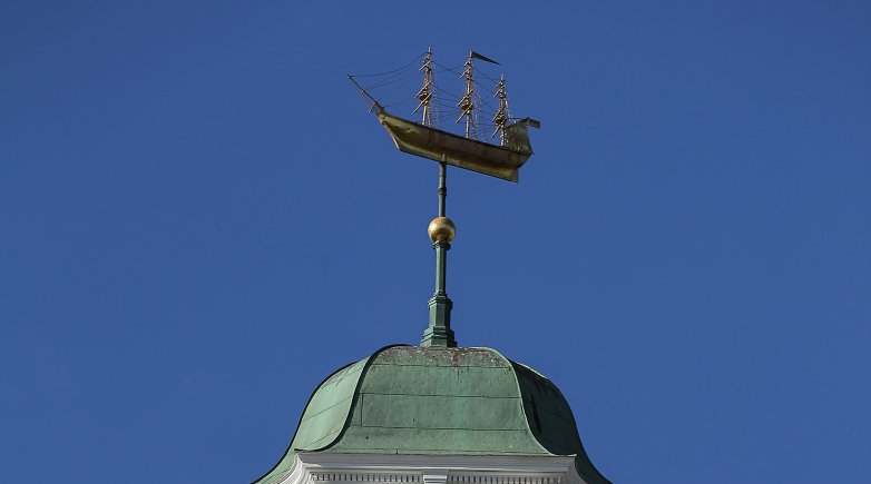 Close-up of the Academy Building weather vane.