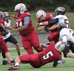 Exeter student Peter Chinburg playing football.
