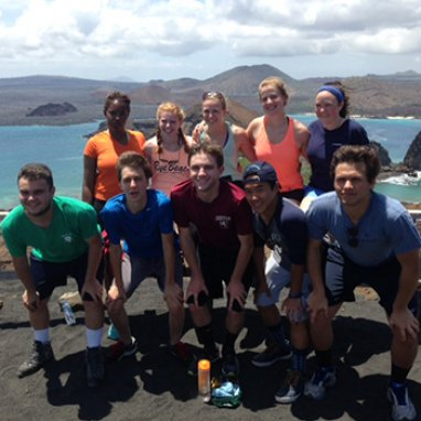 Exeter students in Ecuador