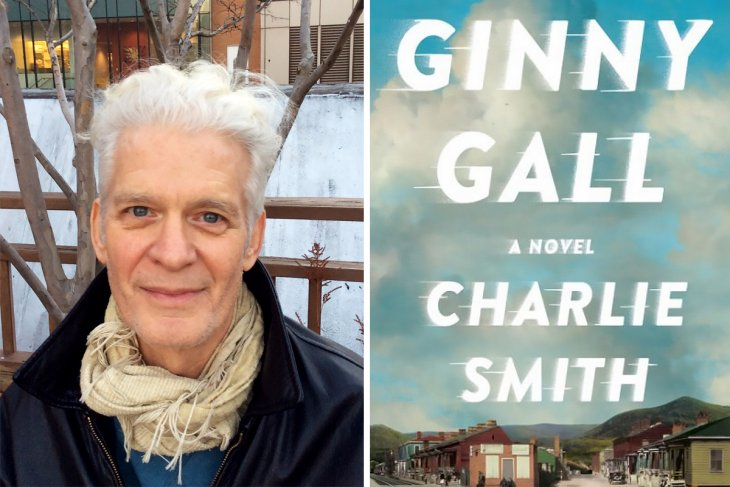 Charlie Smith with picture of his book Ginny Call.