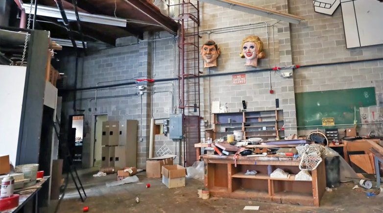 Fisher Theater scene shop at Exeter
